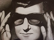 Roy Orbison Framed Prints - Roy Framed Print by Amber Stanford