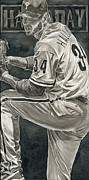 Baseball. Philadelphia Phillies Painting Metal Prints - Roy Halladay Metal Print by David Courson