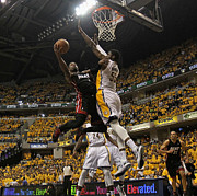 Dunk Photo Metal Prints - Roy Hibbert Poster Metal Print by Sanely Great
