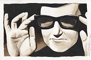 Dave Painting Framed Prints - Roy Orbison Framed Print by David Shumate
