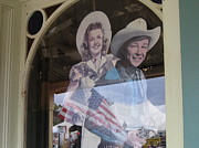 Autry Photos - Roy Rogers and Dale Evans cardboard cut-outs Tombstone Arizona 2004 by David Lee Guss