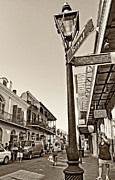 Royal Street Framed Prints - Royal Afternoon sepia Framed Print by Steve Harrington