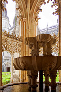 European Church Acrylic Prints - Royal Cloister of the Batalha Monastery Acrylic Print by Lusoimages