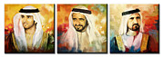 Sheikh Posters - Royal Collage Poster by Corporate Art Task Force