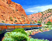 Railroads Paintings - Royal Gorge Train by Michael Pickett