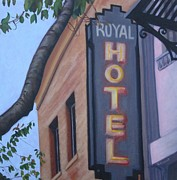 Long Street Painting Posters - Royal Hotel Poster by Katrina West