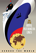 Vector Prints - Royal Interocean Print by Gary Grayson