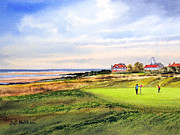 Tiger Woods Paintings - Royal Liverpool Golf Course Hoylake by Bill Holkham