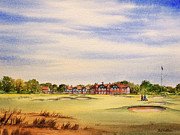 Us Open Painting Posters - Royal Lytham and St Annes Golf Course Poster by Bill Holkham