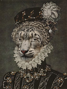 Elegant Cat Picture Prints - Royal Noble Gepard Portrait Print by Jolanta Prunskaite
