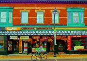 Streetscenes Paintings - Royal Oaks British Pub Hillarys And Pc Perfect Glebe Central Paintings Of Ottawa Scenes C Spandau by Carole Spandau