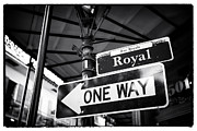 Royal Street Framed Prints - Royal One Way Framed Print by John Rizzuto