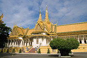 Khmer Prints - Royal Palace Throne Hall in Cambodia Print by Artur Bogacki