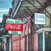 Coca Cola Signs Posters - Royal Pharmacy Poster by Brenda Bryant