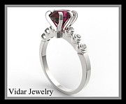 Roi Avidar - Royal Red Ruby 14k White...