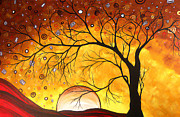 Golden Brown Prints - Royal Riches Original Artwork MADART Print by Megan Duncanson