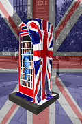 Duchess Prints - Royal telephone box Print by David French