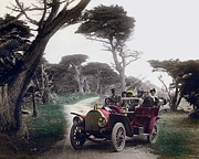 Glass Pebble Prints - Royal Tourist touring car model G3 Pebble Beach Calif. circa 1908 Print by California Views Mr Pat Hathaway Archives