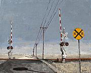 Route 66 Paintings - Rr by Steve Beaumont