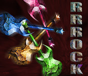 Rock N Roll Digital Art - Rrrrock by Johnny Trippick