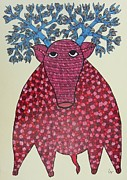 Gond Art Paintings - Rt 10 by Ramesh Tekam