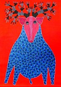 Gond Art Paintings - Rt 12 by Ramesh Tekam