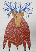 Gond Art Paintings - Rt 13 by Ramesh Tekam