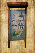 Rt 66 Towanda Il Welcome Signage Print by Thomas Woolworth