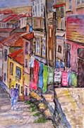 Tourist Painting Originals - Rua Conticeira Brazil  by Mohamed Hirji