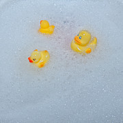 Foam Prints - Rubber Ducks Print by Joana Kruse