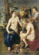Rubens; Peter Paul (1577-1640) Metal Prints - Rubens, Peter Paul 1577-1640. Ceres Metal Print by Everett