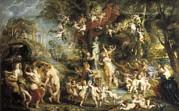 Rubens, Peter Paul 1577-1640. The Feast Print by Everett