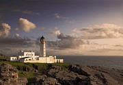 Landscapes Digital Art Metal Prints - Rubha Reidh - lighthouse Metal Print by Pat Speirs