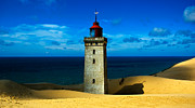 Sand Dunes Pyrography Prints - Rubjerg Knude Lighthouse Print by Jonas Arnell