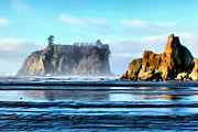 Wacom Tablet Prints - Ruby Beach Ocean View Print by Paddrick Mackin