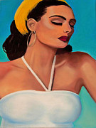 Original Work Of Art Pastels Posters - Ruby Poster by Dana Kern