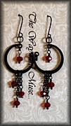 Gold Earrings Originals - Ruby Drops by Jan  Brieger-Scranton