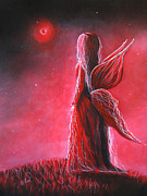 July Paintings - Ruby Fairy by Shawna Erback by Shawna Erback