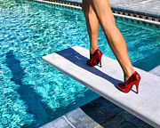 Fashion Photography Posters - RUBY HEELS Ready for take-off Palm Springs Poster by William Dey