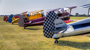 Stearman Prints - Rudders in a Row Print by Tim Stanley