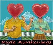 Bittersweet Mixed Media Framed Prints - Rude Awakenings Framed Print by J L Meadows