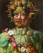 Famous Artists - Rudolf II of Habsburg as Vertumnus by Giuseppe Arcimboldo
