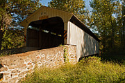 Rudolph Framed Prints - Rudolph Arthur Covered Bridge Framed Print by Michael Porchik