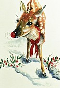 Rudolph Framed Prints - Rudolph Framed Print by Joy Bradley  DiNardo Designs