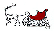 Rudolph Drawings Prints - Rudolph Print by Lisa Ullrich