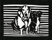 Www Greeting Cards Prints - Rudy and Roxy Print by Ellen Sauer