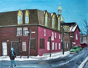 Rue Centre Pte St Charles Print by Reb Frost