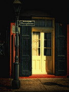 French Doors Framed Prints - Rue Dauphine New Orleans Framed Print by Kathleen K Parker