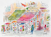 Wine Shop Prints - Rue De Buci Paris Print by Pat Katz