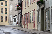 Quebec Houses Art - Rue De Jardiens in Quebec City by Juergen Roth